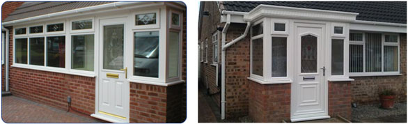 Upvc porches glazerite services hull east yorkshire for Upvc french doors hull