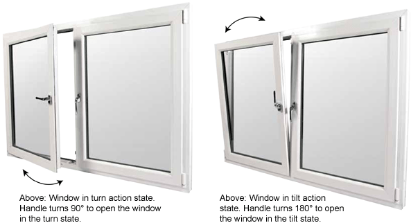 Handing Tilt Turn : Tilt turn upvc windows glazerite services hull east